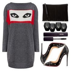 """""""Their eyes was watching you."""" by prettyorchid22 ❤ liked on Polyvore featuring Bella Freud, BCBGeneration, Christian Louboutin, Eichholtz and INIKA"""