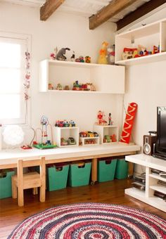 Table on wheels for kids Playroom craft area