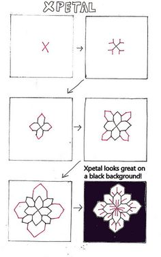 My Tangle Patterns-Xpetal by molossus, who says Life Imitates Doodles, via Flickr