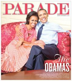 """""""PARADE Exclusive: A Conversation With the Obama's ...  Aren't they just soooo cool!!!!"""