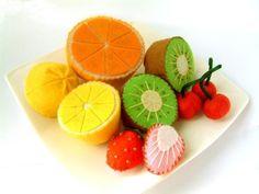 Früchte aus Filz