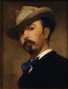 Retrat de Joaquim Vayreda (Girona, 1843 - Olot, 1894), pintor, dels més destacats paisatgistes catalans. Realitzat per Antoni Caba l'any 1870. Aquest retrat forma part de la col·lecció del Museu Nacional d'Art de Catalunya