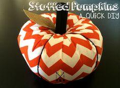 great diy fabric pumpkin shared at - Katherines Corner