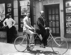 Two men on a tandem bicycle - Jacksonville
