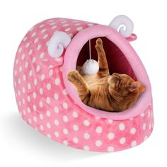 CUPETS Pet House for Cat Dog with Comfortable Pet Bed Sheep Style Cave Shape Portable Indoor in Winter Pet Cave - Cat store galore Tidy Cat Litter, Tidy Cats, Cat Cube, Pink Sheep, Cat Themed Gifts, Cat Store, Cat Birthday, Animal House, Pet Beds