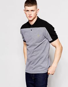 Image 1 ofFred Perry Polo Shirt with Block Colour Shoulders