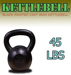 New 45 Lbs Solid Cast Iron Kettlebells Weight Dumbbells Kettlebell * Find out more about the great product at the image link.