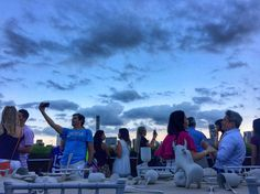Rooftop @metmuseum #art #sky #skyline #nyc #photo #photography #drinks #clouds #building #colors