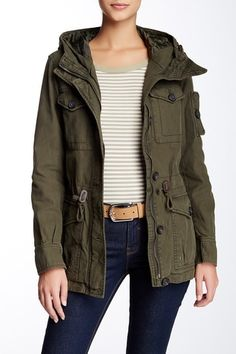 c0e855083478 Hooded Military Jacket by Levi's on @nordstrom_rack Military Jacket  Outfits, Military Field Jacket,