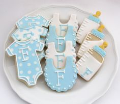 Baby Shower Cookies Baby Boy Personalized by MrsCookieBakes