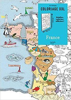 Télécharger Coloriage XXL France Gratuit File Folder Games, Montessori Education, Cycle 3, Home Schooling, Kids House, Continents, Diy For Kids, Coloring Books, Childhood