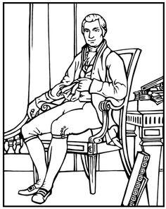 thomas jefferson coloring page president thomas jefferson