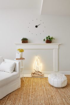 No room for a fireplace? No problem. Cozy up your place with this hot idea!
