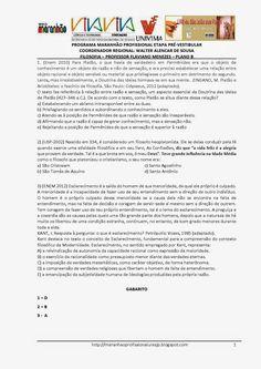 Programa Maranhão Profissional 2014: ETAPA PRÉ-VESTIBULAR - PLANO B- FILOSOFIA - ATIVID...