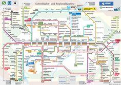 Munich's Metro Map. Schnellbahn- und Regionalzugnetz  2013