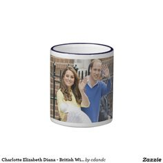 Charlotte Elizabeth Diana - British Will Kate Ringer Mug  -  Visit my Zazzle Store for more Great Gift Ideas - http://www.zazzle.com/cdandc - #royalfamily #british #gifts #will #kate #mug #souvenir