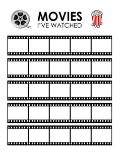 Free Movies I've Watched Printable