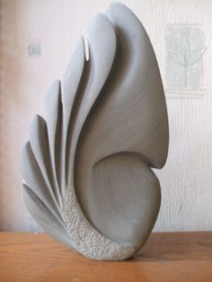 Sculpture (stone) created by my husband, Anthony S Motram. Photo by claudia Skulptur (Stein) von meinem Mann Anthony S Motram. Plaster Sculpture, Sculptures Céramiques, Pottery Sculpture, Stone Sculpture, Abstract Sculpture, Sculpture Art, Sculpture Lessons, Stone Carving, Wire Art