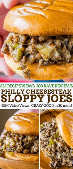 Philly Cheese Steak Sloppy Joes will make you forget your childhood canned sauce memories and make you LOVE sloppy joes again.