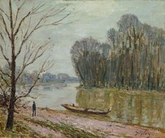 Banks of the Loing, Winter (Alfred Sisley)