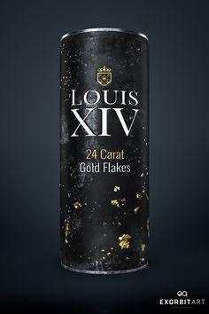 LOUIS XIV - 24 CARAT GOLD DRINK on Digital Art Served