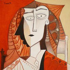 Mujer. Óleo sobre lienzo. Tamaño 50x50 cms. Año 2014
