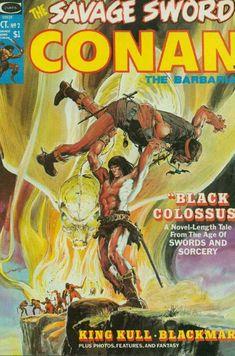 October 1974 - Cover by Neal Adams Conan Comics, Marvel Comics, Caricature, Comic Book Covers, Comic Books, Conan O Barbaro, Marvel Magazine, John Buscema, Conan The Barbarian