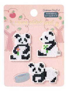 Panda Cross Stitch Stickers (AM032-06)