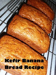 My Inner Piece of Mind: Kefir Banana Bread Recipe I added raisins, chopped apples, berries, almonds and coconut. Did not use choc. chips and used stevia instead of sugar
