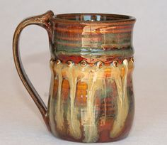 Pottery mug handmade ceramic 12oz by DrostePottery on Etsy