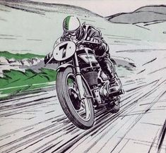 New Motorcycle Drawing Illustration Cafe Racers Ideas Bike Tattoos, Motorcycle Tattoos, Motorcycle Posters, Bobber Motorcycle, Pub Vintage, Vintage Racing, Cafe Racer Shop, Cafe Racers, Bike Art