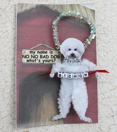 Bichon  Dog Ornament Personalized by GreenGypsies on Etsy, $7.50