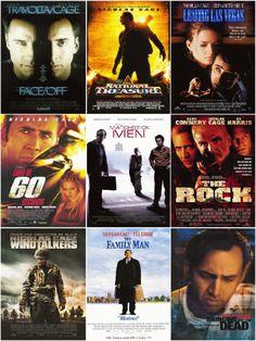 Nicolas Cage. Alle films waarin hij meedoet beloofd actie en avontuur. Spannend tot het einde, vaak ook heel verrassend einde. The Rock met Sean Connery, een favoriete film.