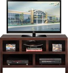 Ryder Espresso 54 in. Console .299.99. 54 L x 16.5W x 27H . Find affordable Home Entertainment for your home that will complement the rest of your furniture.  #iSofa #roomstogo