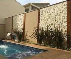39 ideas brick patio wall house for 2019 Backyard Pool Designs, Small Backyard Pools, Backyard Landscaping, Small Backyards, Landscape Bricks, Outdoor Walls, Outdoor Decor, Patio Wall, House Paint Exterior
