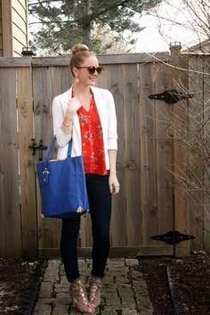 #spring florals and @justfabonline accessories