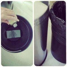 """Para evitar que a lata do lixo fique fedendo, basta colocar um pedaço de papel toalha na lata e pingar umas gotas de óleo de eucalipto. Coloque o saco de lixo normalmente.  O papel toalha ajuda absorver o """"churume"""" que escorre do saco e o óleo auxilia, soltando aroma do eucalipto e abafando o mau cheiro da lixeira.  Se for na lixeira de lixo seco fica ainda mais perfumado e muitas vezes nem é preciso trocar o papel e repor o óleo."""
