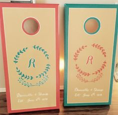 Customizable, Hand-Painted Wedding or Monogrammed Corn Hole Boards