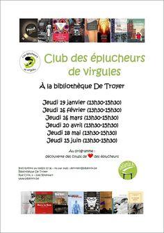 Club des éplucheurs de virgules à la Bibliothèque De Troyer
