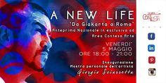 In esclusiva #Nazionale per la prima volta a #Roma vi presentiamo l'Artista #GiorgioSciarretta con un'incredibile #Mostrapersonale del suo #Progetto #ANewLife da #Giakarta a #Roma. Il 5 #Maggio dalle ore 18:00 alle ore 21:00. Sempre qui ad #Areacontesaarte in via #Margutta90. Non mancate!