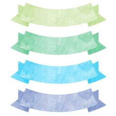 Use these free printable watercolor banners on your artwork, paper projects, mixed media, scrapbooking and card making.