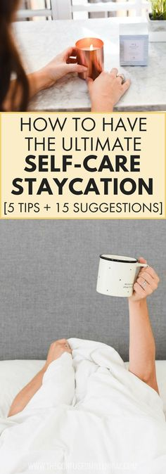 self care staycation suggestions, tips and activities for self care mental health, at home staycation with kids, Take Care Of Yourself, Improve Yourself, Self Care Activities, Health And Wellness, Mental Health, Personal Wellness, Self Development, Personal Development, Self Care Routine