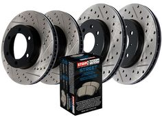 Front Brake Rotors Ceramic Pads Drill Slot For 2005-2012 Ford F-350 Super Duty