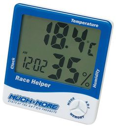 Muchmore Racing Race Temp/Humidity Helper Clock, Blue