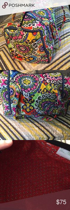 Vera Bradley duffle. Rio Like new. Pet friendly home. Large duffle. Been stored in a tote for years. Vera Bradley Bags Travel Bags