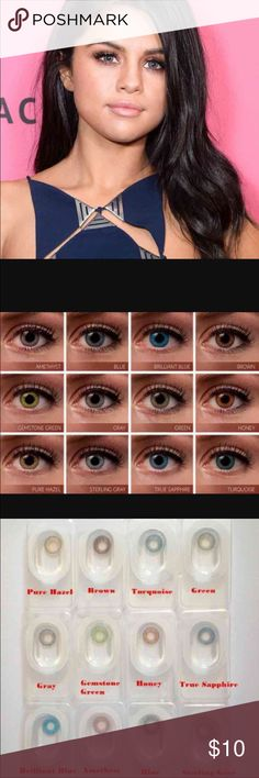 """Gray Contacts NIB Non prescription  FreshLook   Note :We will suggest you change( replace ) it within 3 weeks if you use it frequently.""""-FreshLook   Colors available: Amethyst,Brilliant Blue, Brown, Gemstone Green, Gray, Green, Honey,True Sapphire, and Turquoise.  I have all colors listed above bundles can be mixed and matched  BUY 1 set FOR $10 Buy 2 sets FOR $18 Buy 3 sets FOR FOR $27    Tags: High quality, Nike Sephora, Victoria Secret Mac False eye lashes Makeup Gifts Makeup"""