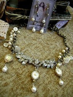 Great idea for creating jewelry with old watches. | want to make my grandmothers watch into a necklace like this.