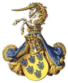 The Duchy of Parma and Piacenza (now part of Italy) was created in 1545 by Pope Paul III. The duchy was ruled by the Farnese family until 1737. The area became a possession of the Bourbon family. In the Paris Convention in 1817 it was decided that when the family became extinct, the area would become part of Austria. This happened in 1847, but the Austrian Emperors already used the title in 1836. The arms are identical to the arms of the Farnese family