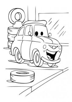 Cars 2 Printable Coloring Pages  hit movie cars 2 finn mcmissile