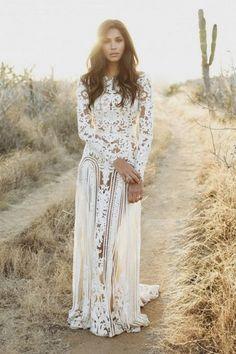 Lace Hippie Boho Wedding Dresses for 2018/2019